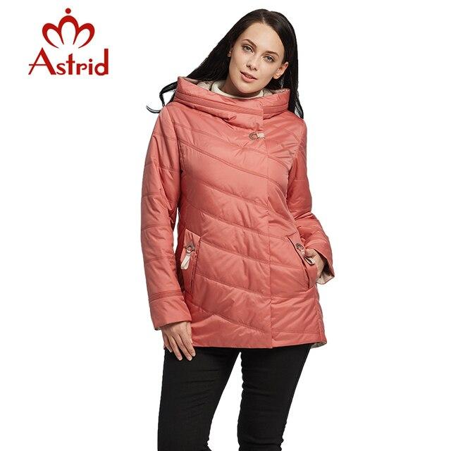 Астрид новые женские ветровка весна куртка с длинным капюшоном сплошной цвет пальто легкий повседневные женские куртки новая коллекция как AM-1848