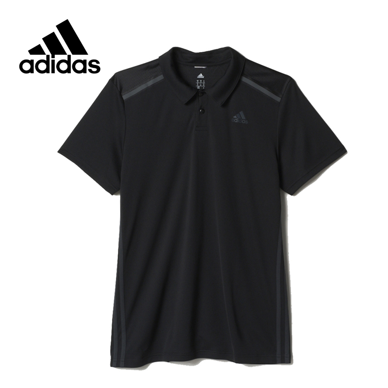 Adidas Original New Arrival Official Climacool Men's Shirt Short Sleeve Breathable White Black Sportswear AJ5516 AJ5519 adidas new arrival official ess 3s crew men s jacket breathable pullover sportswear bq9645