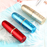20pcs 50pcs 12 1mm Red Bullect Lip Balm Containers DIY Plastic Gold Bullect Lipstick Tube Blue