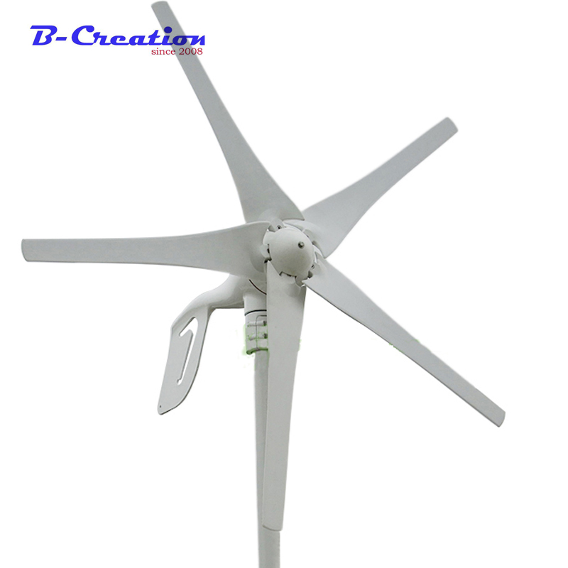 12V/24V 400W Wind Turbine Generator 5 Blades Low Wind Speed Starting Top Rated NSK Bearings& Waterproof Wind Controller