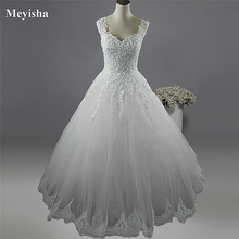 Vestidos de noiva, ZJ9076 C 2019 branco marfim vestidos de casamento 2019 2020 com fundo de renda para vestido de noivas tamanho grande 2 26w w