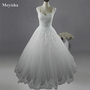 Image 1 - Vestidos de noiva, ZJ9076 C 2019 branco marfim vestidos de casamento 2019 2020 com fundo de renda para vestido de noivas tamanho grande 2 26w w