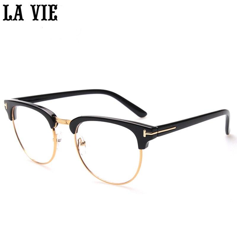 ⊹Retro Eyes Glasses Metal Half Frame Ultra Light Vintage Myopia ...