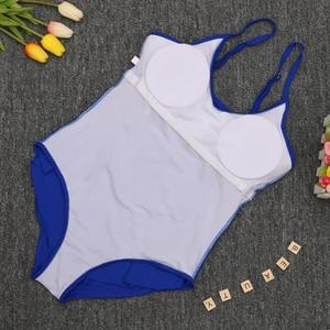 Image 5 - Ruffle One Piece Swimsuit Mature Women Cover Belly Swimwear Slimming Vintage Retro Bodysuit Bathing Suits Monokini Plus Size 3XL