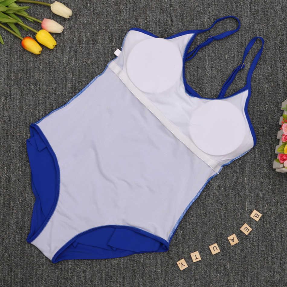 Ruffle One Piece Swimsuit Wanita Dewasa Penutup Perut Baju Renang Pelangsing Vintage Retro Bodysuit Pakaian Renang Monokini Plus Ukuran 3XL