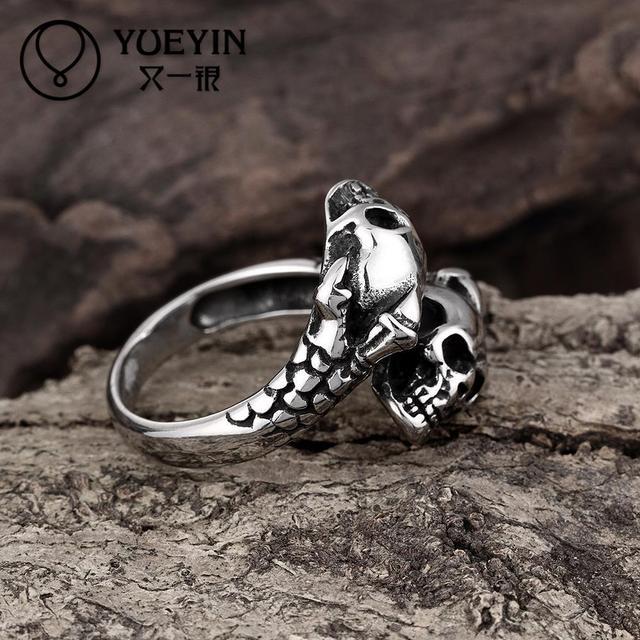 Staineless Steel Halloween Skull Finger Rings