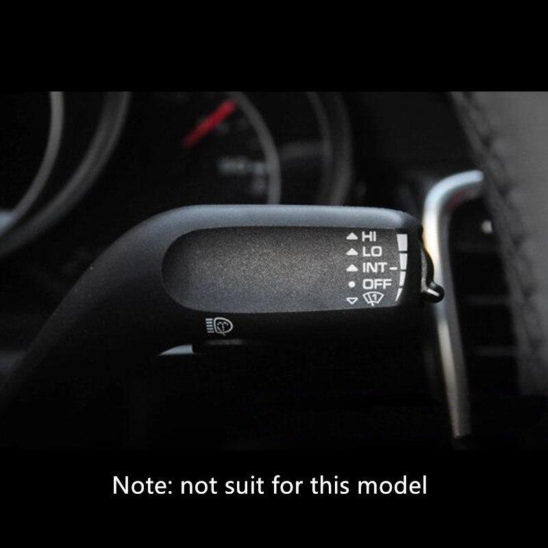 Image 4 - Garniture dautocollant de tige de levier dessuie glace de  volant de voiture pour Porsche Macan Cayenne Panamera accessoires  intérieursIntérieur Moulures