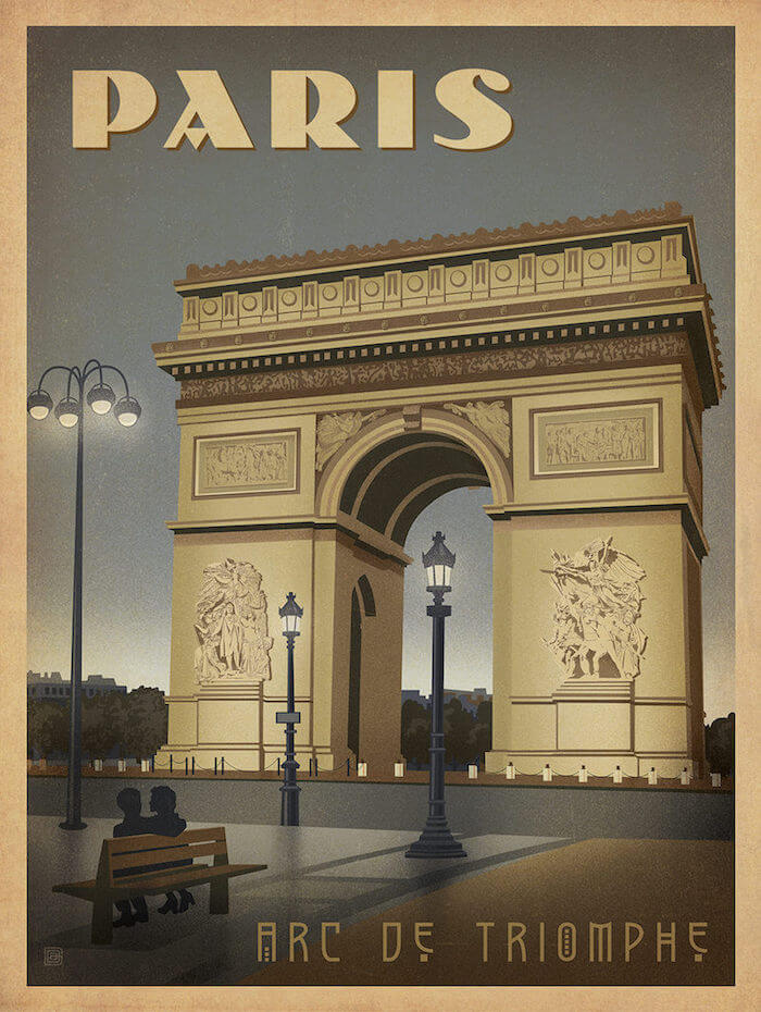 Architecture patterns promotion shop for promotional for Arc de triomphe wall mural