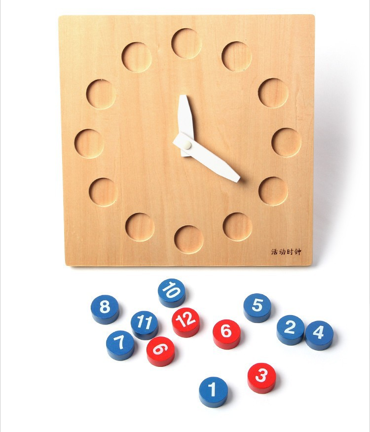 Free Shipping!Montessori Wooden Shape Sorting Clocks with Movable Hands Blocks Toy Kids Educational Toys Blocks baby toys montessori wooden geometric sorting board blocks kids educational toys building blocks child gift