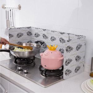 Image 4 - Aluminum Foldable Kitchen Gas Stove Baffle Plate Kitchen Frying Pan Oil Splash Protection Screen Kichen Accessories