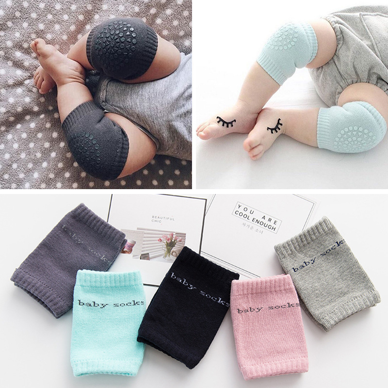 Elbow-Cushion Toddler Baby Kids Knee-Pad Anti-Slip Safety Infant 1pair Soft Cotton Dispensing