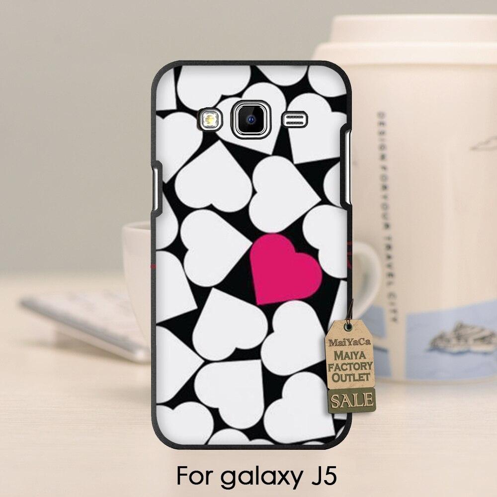 Adorable dibujo coloreado accesorios del teléfono trasero duro para galaxy j1 j3