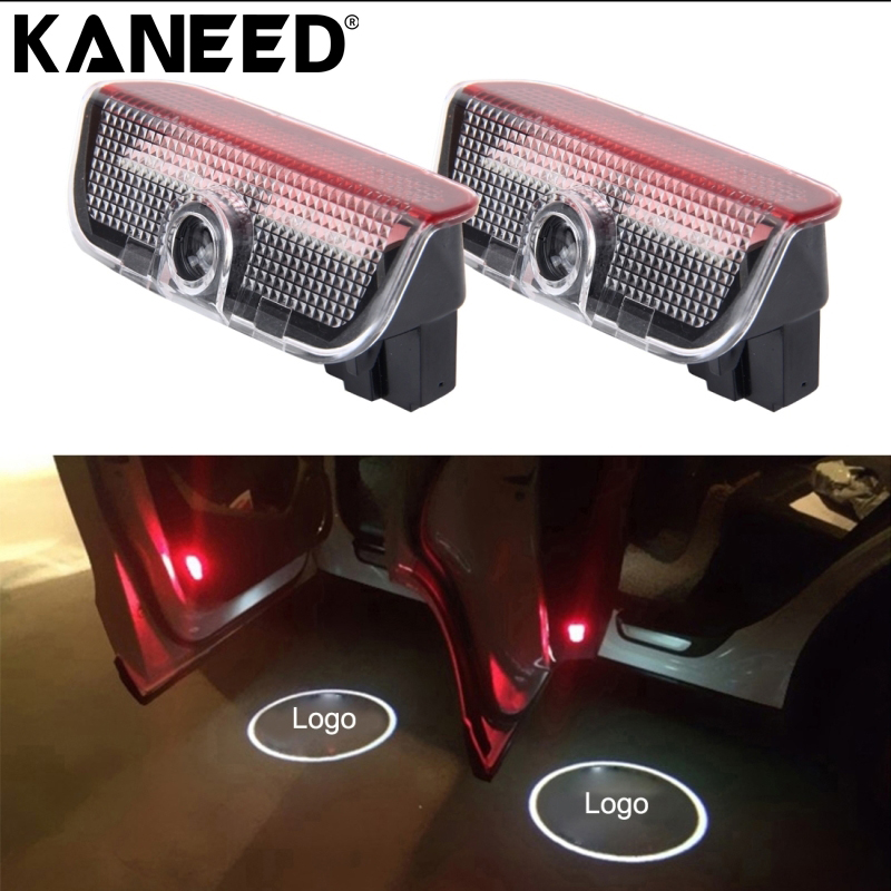 KANEED For Porsche Cayman Door Logo Light Car LED Welcome