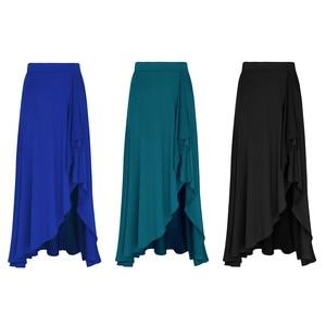 Image 2 - TiaoBug 新女性非対称伸縮性ウエストバレエダンススカート体操大人のパフォーマンス現代叙情的なダンス衣装