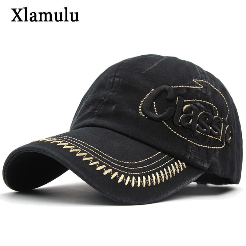 Xlamulu Men   Baseball     Cap   Snapback Women Hats For Men Casquette Washed Vintage Bone Brand Men Hat Gorras Embroidery Dad   Caps