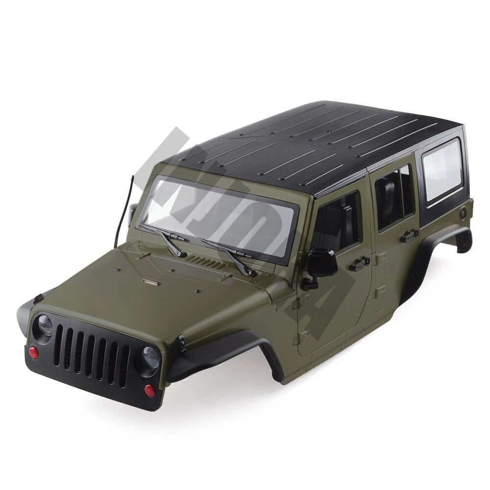 INJORA 8 Cor Disponível 313 milímetros de Distância Entre Eixos Jeep Wrangler Shell Corpo para 1/10 RC Rock Crawler Axial SCX10 & SCX10 II 90046 90047
