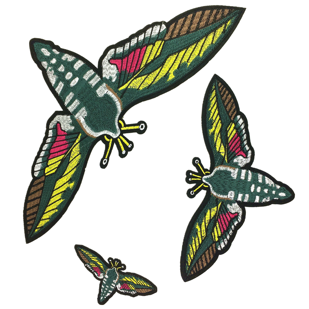 918bd0d13ed0 3Sets Big Embroidered Moth Patch Embroidery Moths Applique Big ...