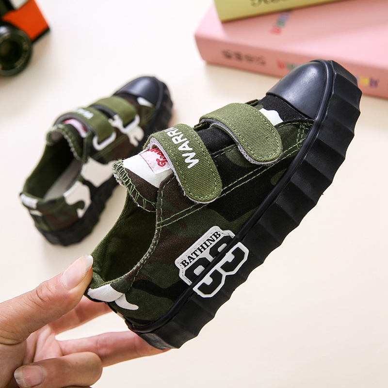 2019 Spring New Big Children Canvas Shoes Boys And Girls Camouflage Shoes
