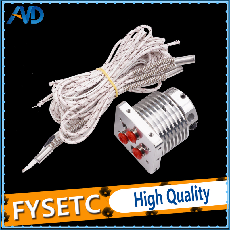 3D Printer Multi-extrusion 3 In 1 Out Hotend Extruder Full kit Multi Color nozzel Hot End 0.4mm/1.75mm Filament for PLA ABS
