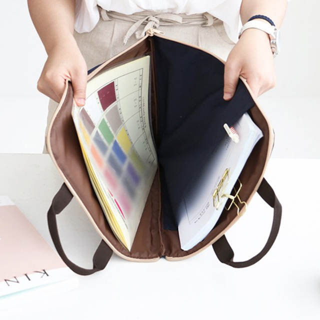 A4 Oxford File Folder Bag Men Portable Office Supplies Organizer Bags  Casual Ladies Tote Document Handbag aa4d132887249