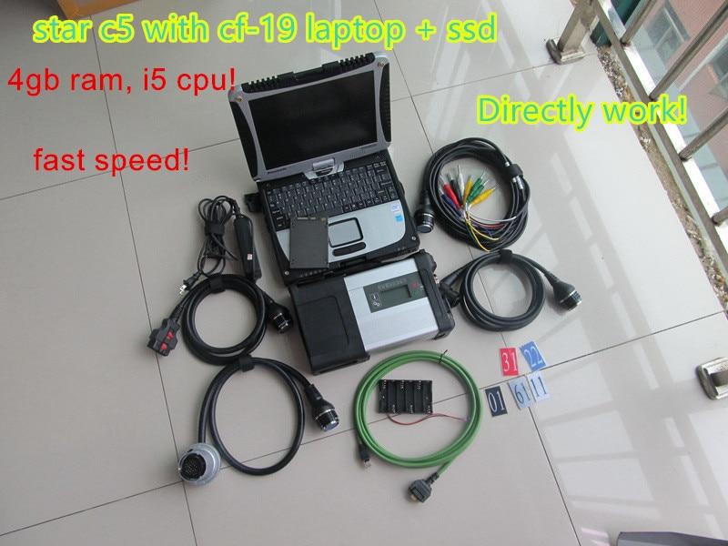 2019 Mb Star C5 Sd Verbinden C5 Mit 2019,03 Software Hdd Ssd Militär Laptop Cf19 Diagnose Pc Für Mb Auto Und Lkw Diagnose Neueste Mode