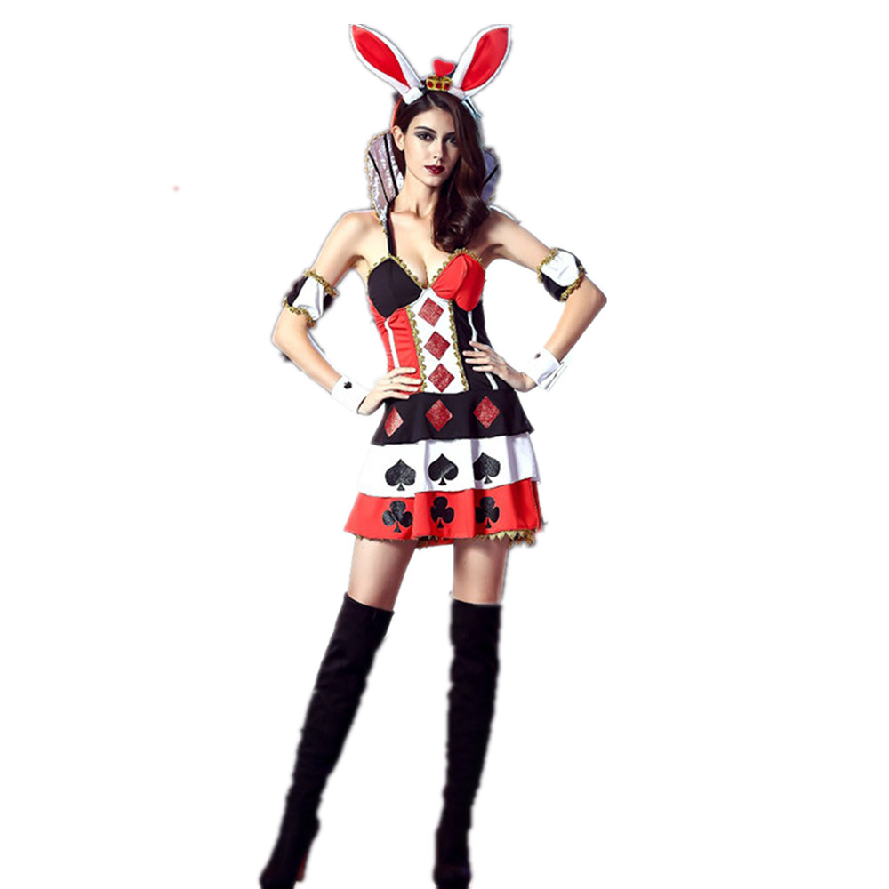 fancy bunny costume clown cosplay halloween costumes stage party costumes rat dance costumes clothes d4690 - Halloween Costumes Prices
