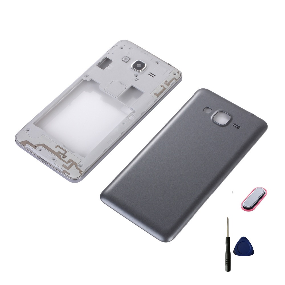 For Samsung Galaxy Grand Prime G531 G531H G531F Housing Middle Frame+Battery Back Cover+Home Button Return Key Keypad+Tools