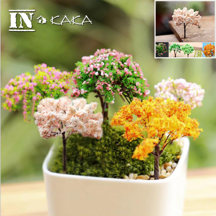 unids micro de hadas jardn de macetas en miniatura decoracin ornamento artificial mini cereza sauces