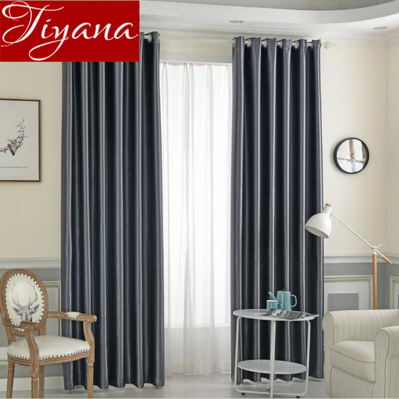 Gray Curtains Pure Solid Color Blackout Curtains For Living Room Bedroom Curtains Drapes Fabrics Home Textiles Rideaux X243 #30
