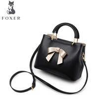 FOXER brand bag female 2018 new Korean fashion one shoulder slung handbag Soft leather shoulder bag