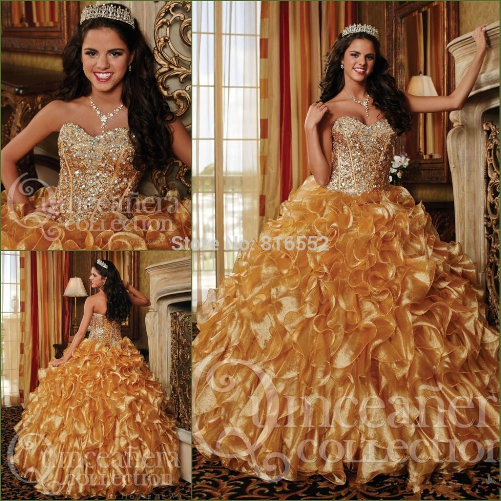 Popular Gold Sweet 16 Dresses-Buy Cheap Gold Sweet 16 Dresses lots ...