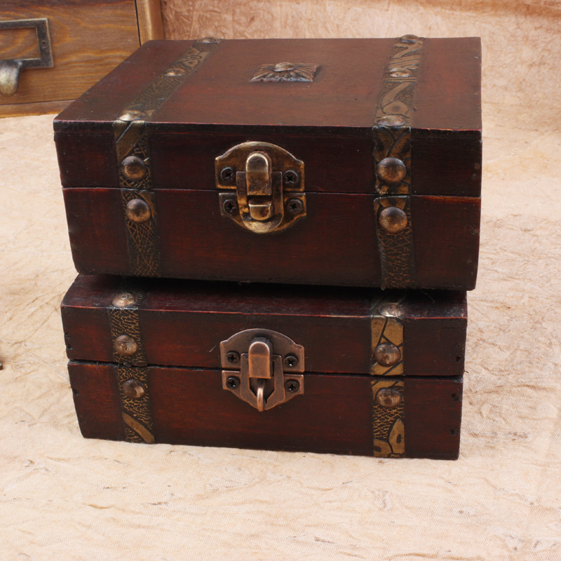 Zakka antique vintage wooden box small storage box candy for Vintage antique jewelry box