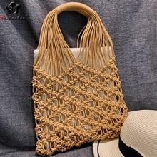 Fashion Hollow Out Beach Bag Bohemian Women Hand Woven Bags Large Capacity Summer Handbags Female 2019 Ladies Tote Borsa Mare цена в Москве и Питере