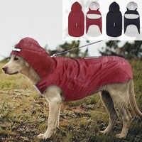 Mascota perro grande impermeable perro grande ropa exterior abrigo chaqueta de lluvia para Golden Retriever Labrador Husky perros grandes 3XL-5XL