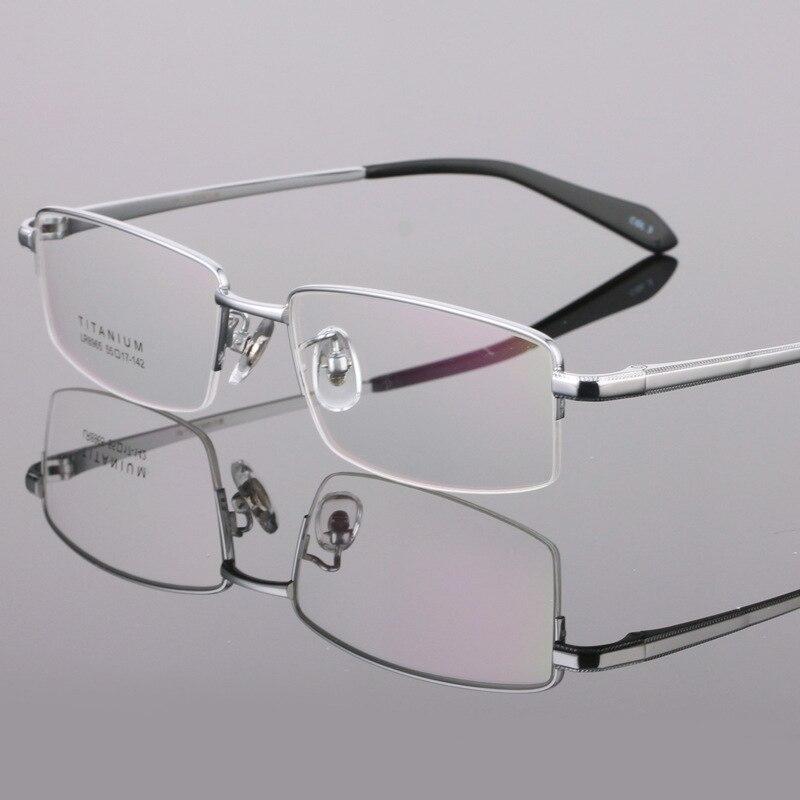 Viodream Pure Titanium Ultra Light Business Men Prescription Progressive Eyewear Optical Glasses Spectacle Frame Oculos De