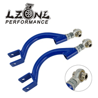 LZONE TRACTION ROD BLUEFOR 95 98 240SX S14 S15 R33 REAR ADJUSTABLE CAMBER CONTROL ARM KIT SUSPENSION JR9817
