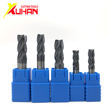 Carbide end mill 4 Flutes HRC50 endmill machine Tungsten Steel end mills cnc Milling Cutter End Mills cutting tools 1bag 19pcs free shipping 3 flutes hrc50 tungsten solid carbide flat end mills milling tools for aluminum