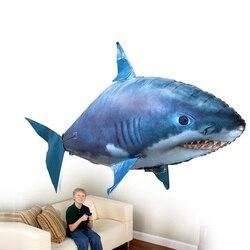Controle remoto tubarão brinquedos de natação ar peixe infravermelho rc voando balões de ar palhaço peixe miúdo brinquedos presentes festa decoração do navio da gota