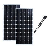 Panneau Solaire 12v 150w 2Pcs Panels Solar 24v 300w Solar Battery Charger Solar Home System Boat Car Caravan Motorhome LED