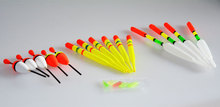 15pcs in 1 set vertical buoy sea Fishing floats Assorted size for most type of angling with attachment rubbers fishing lures