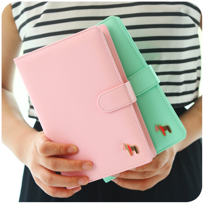 Planner 2018 A5 notepad daily planner macaron fashion faux PU leather stationery monthly weekly A5 planner organizer A5 cute a5 gnd a5 gnc a5
