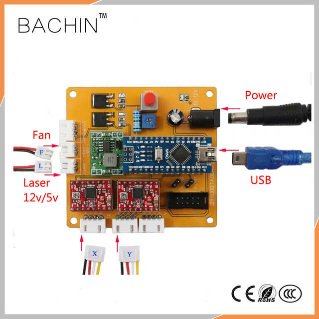 2axis control board laser engraving machine controller 2 axis pcb rh aliexpress com CNC Router Machines Computerized Engraving Machine