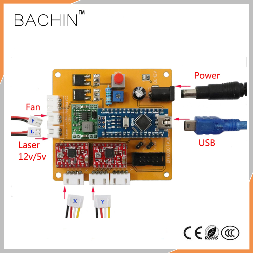 New CNC 2axis Control Board DIY Laser Engraving Machine Controller 2 axis PCB Board for Laser Engraver Cutting Machine robotec new technologies laser cutter 1390 diy laser engraver china low cost cnc laser engraving cutting machine for sale