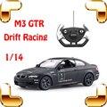 Presente de natal M3 GTR 1/14 RC Controle Remoto Corrida de Carro de Esporte modelo de Unidade de Controle de Velocidade Do Veículo Fácil Brinquedo Para Crianças Meninos Presente
