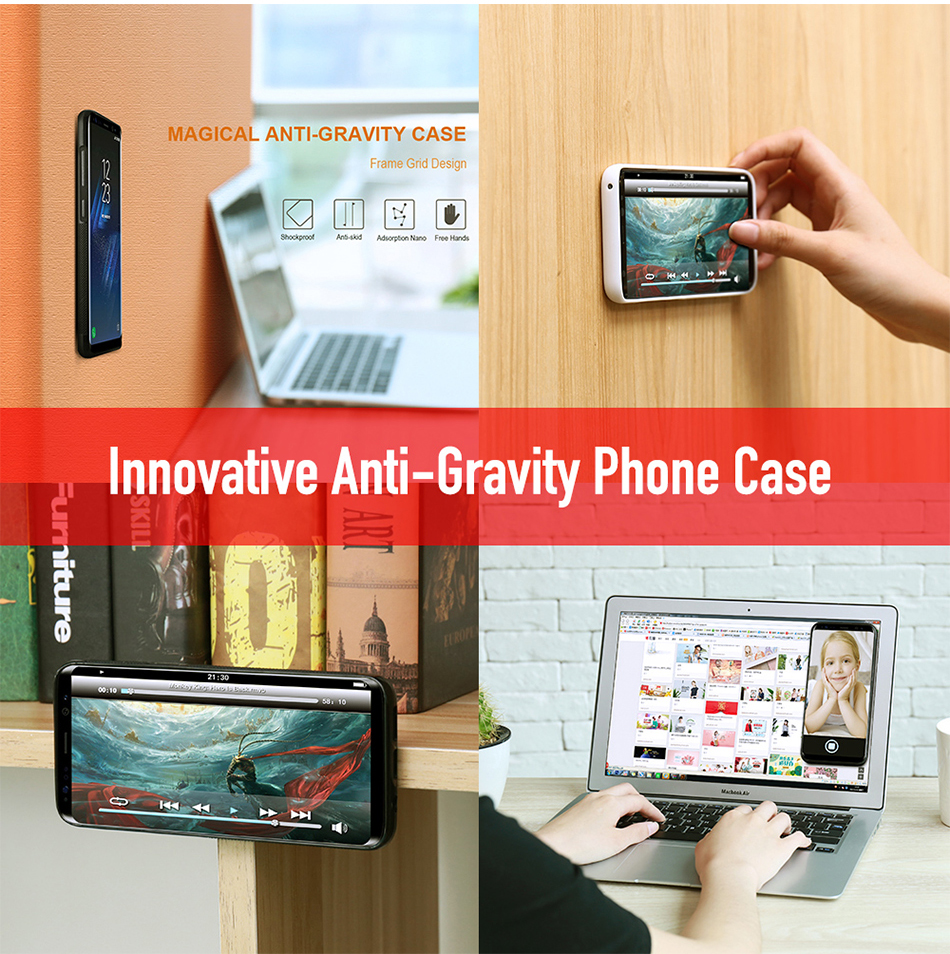 For Samsung Galaxy S8 Plus S6 S7 S5 Anti Gravity Phone Case YYF (1)