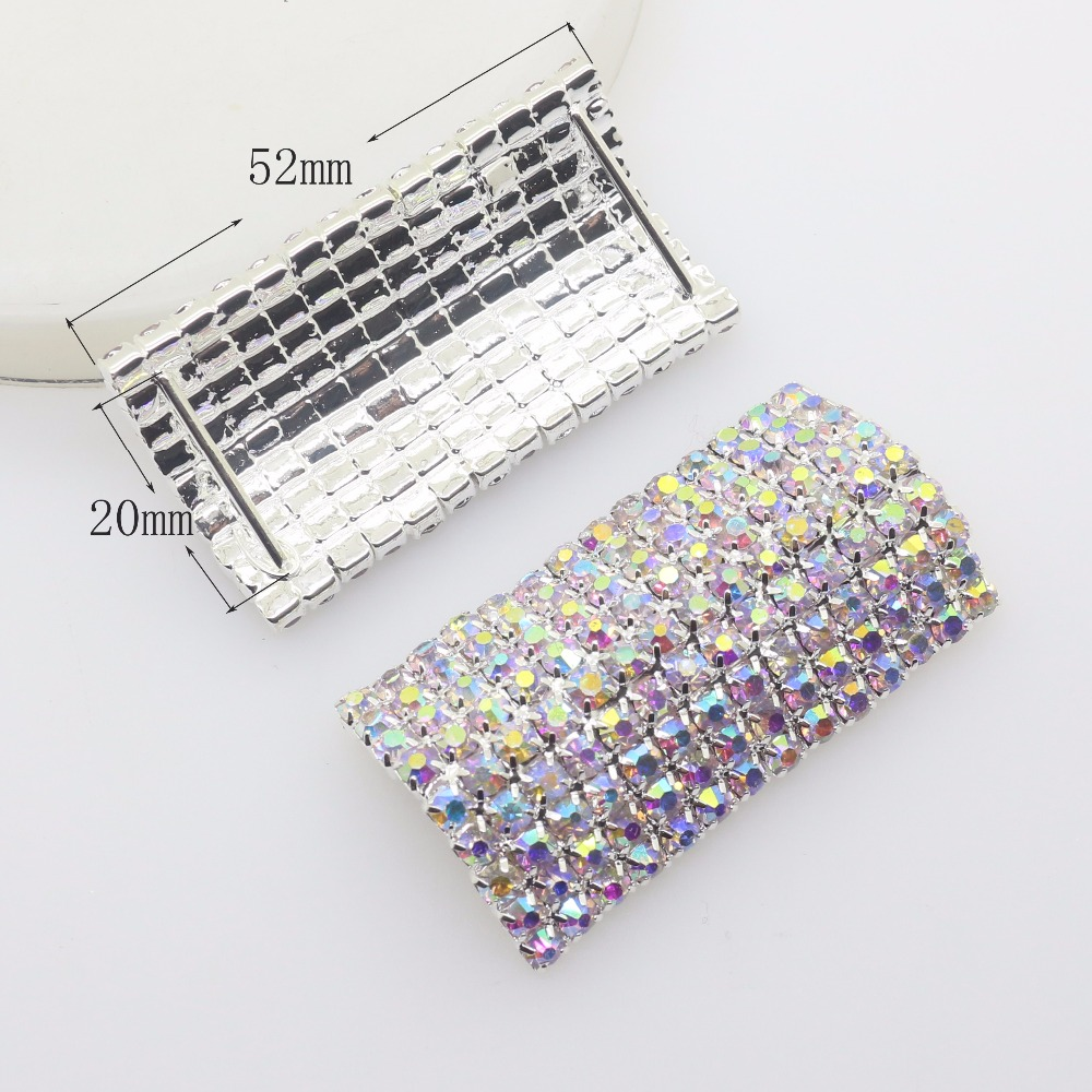 Home & Garden Charitable New 10 Pcs/set 52*26mm U Shape Rhinestone Buckle Diamante Wedding Supplies Card Flower Diy Accessory Ribbon Decorative Deduction Convenience Goods