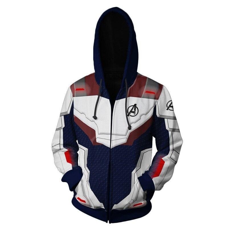 Jumeast Brand New Trend 3D Printed Avengers 4 Endgame Quantum War Men/Women Zipper Hoodie Harajuku Hip Hop Jacket Sport Pullover