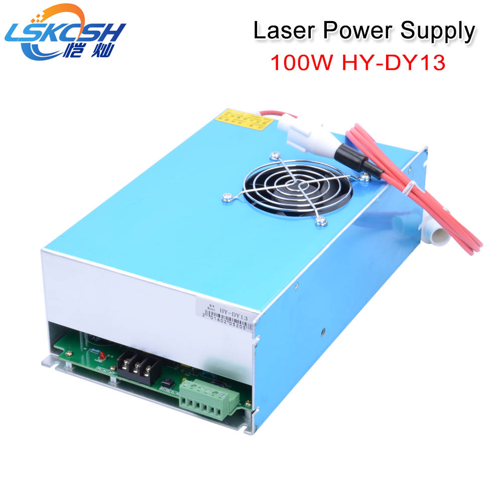 LSKCSH HY DY13 100W Co2 Laser Power Supply For Reci V4 Z4 W4 S4 Tube 220V For Laser Engraving Cutting Machine 1 Year Warranty cloudray dy13 co2 laser power supply for reci z4 w4 s4 co2 laser tube engraving cutting machine