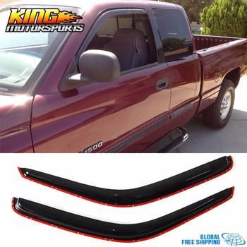 Fits 94 95 96-01 Dodge Ram 1500 2500 3500 Window Visor Smoke/Tinted Global Free Shipping Worldwide