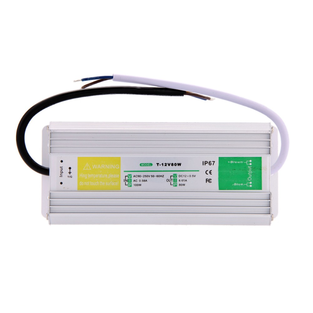 Ac 90-250V to Dc 12V 6.65A 80W Switching Power Supply ip67 Outdoor Used Led Strip Driver meanwell 12v 350w ul certificated nes series switching power supply 85 264v ac to 12v dc